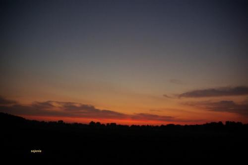 Przed wschodem słońca #niebo #słonce #wrzesień #wschód