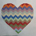 serce w paski #hafty