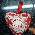 serce z amorkiem #hafty