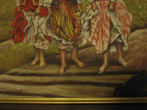 Cyganki, obraz olejny #allegro #aukcja #cyganki #obraz #olej #unikat #wojciechowski