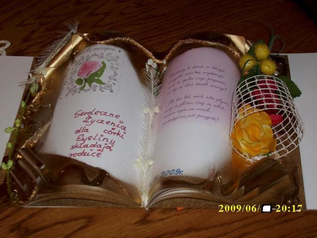 Moja pierwsza własnoręcznie zrobiona Książka Życzeń,(Jak ją zrobić pokazała Ulka )
