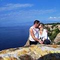 Z Zona na Majorce...Dawno temu... #urlop #wakacje #Majorka #wczasy #romantyzm #pocałunek #zona #kobieta #przyroda #natura #morze #skały #góry