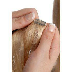 Прическа с накладными волосами на заколках (фото)