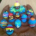 Wykonane przez moich uczniów :) #pisanki #jajka #Wielkanoc #oklejanki