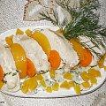 Mięso z kurczaka w sosie koperkowo-brzoskwiniowym. Przepisy do zdjęć zawartych w albumie można odszukać na forum GarKulinar . Tu jest link http://garkulinar.jun.pl/index.php Zapraszam. #kurczak #mięso #brzoskwinie #owoce #jedzenie #gotowanie