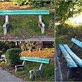 można posiedzieć :) #ławka #ławki #jesień