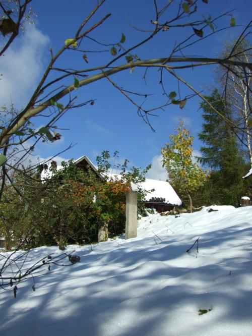 Ogród Górskiego Wiatru Październikowa zima 2009 roku