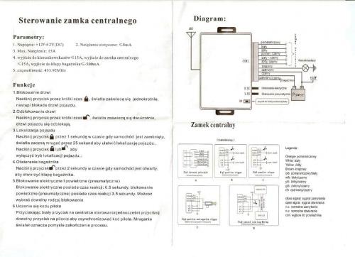 Przekaźnik do sterownika centralnego zamka - problem