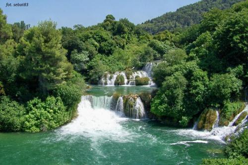 Wodospad w chorwackim parku narodowym Krka
