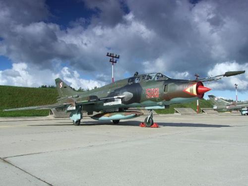 Piknik lotniczy Mirosławiec 30.08.2008, Su - 22UM3K #Mirosławiec #lotnictwo #samoloty #PokazyLotnicze #AirShow