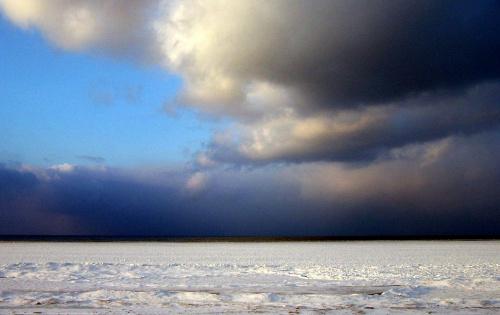 nad Bałtykiem zimą