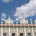 Lublin, Sierpień 2008 #Kamienica #Niebo #Zabytki #Architektura #attyka #Lublin