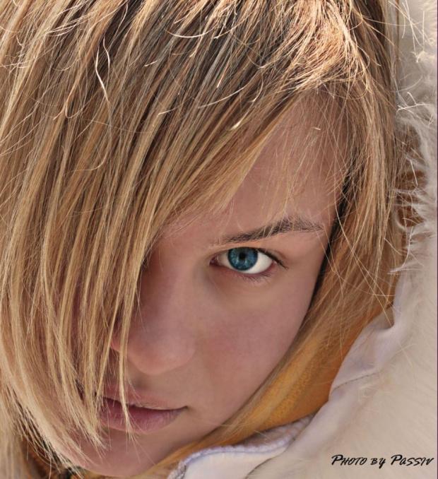 Ania... chyba może być #blondynka #kobieta #śnieg #zima