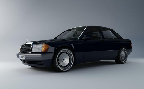 #Mercedes #W201 #model #render #felgi #ThLine