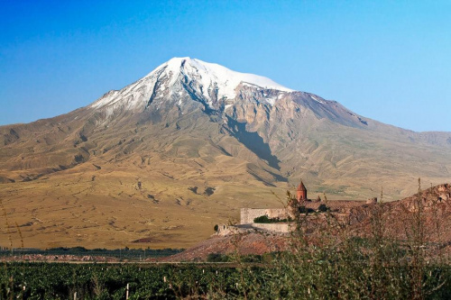 kościół Chor Virap i góra Ararat #kościół #ChorVirap #góra #Ararat