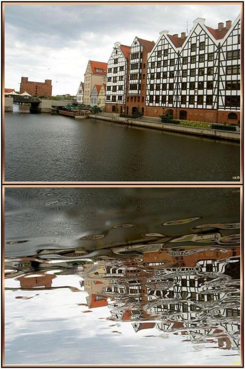 Gdańsk,nad Motławą #inaczej #przeróbki #OdbicieWWodzie #Gdańsk #NadMotławą