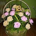 Na osiemnastkę;) 18 róż #KwiatyZKrepiny #KwiatyZBibuły #KoszeKwiatowe #NaŚlub #osiemnastkę #urodziny