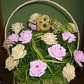 #KwiatyZKrepiny #KwiatyZBibuły #KoszeKwiatowe #NaŚlub #osiemnastkę #urodziny
