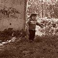 Wojtuś w Bornym Sulinowie 2011 #chłopiec #dzieci #sepia